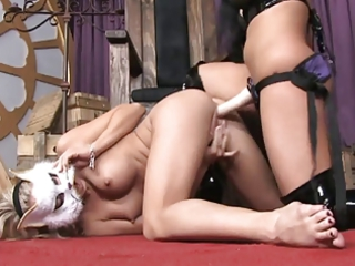 hot sluts inside lesbo strapon adventures...